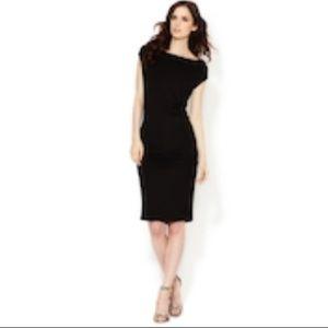 CATHERINE MALADRINO Sleeveless Draped Jersey Dress